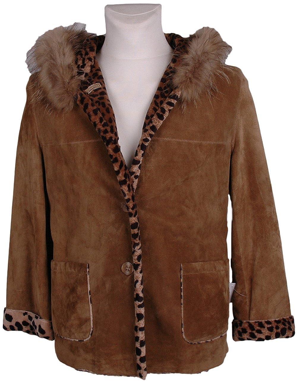 HM Mujer Chaqueta de piel, Model:, color: de color marrón ...