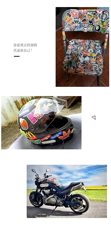 PRETTYGAGA 200PCS Car Bumper Stickers,Motorcycle Bicycle Luggage Decal Graffiti Patches Skateboard Stickers Laptop Stickers Waterproof(Random) Laptop Stickers Waterproof/(Random/) Zechuan Trading Co Ltd
