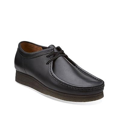 b60f10a344e CLARKS Wallabee Men's Boots Black Leather 26103756