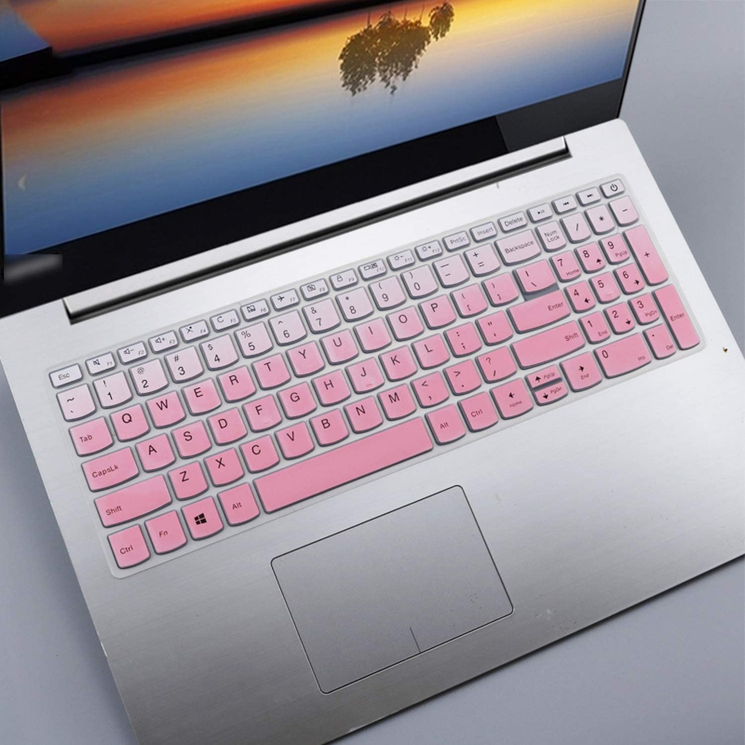All-Equal for Lenovo Ideapad 330 320 320 17 330 17 17.3 Hd I5 8250U 17 Inch Laptop Notebook Keyboard Cover Skin-Fadepink