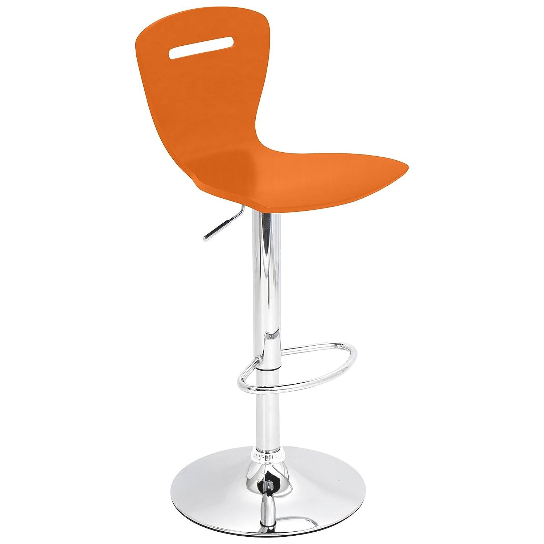 Amazon com lumisource h2 bar stool orange kitchen dining