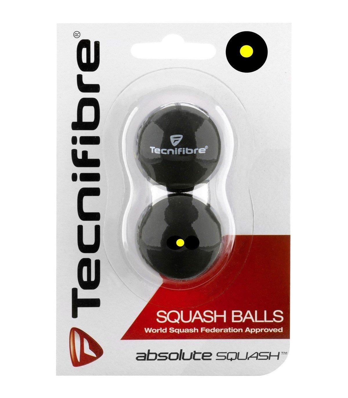 Tecnifibre Balle de squash Absolute 1 Point jaune x2