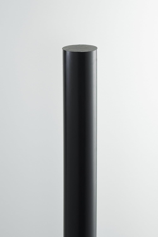Schwarz Durchmesser 70mm A+H Vollstab aus PE-HD Rundstab L/änge 75cm