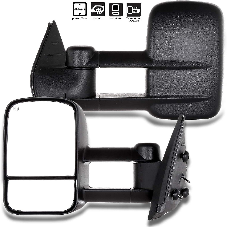 Custom Towing Mirrors For Chevrolet Silverado//GMC Serria 2007-2013 Will Not Fit Telescopic Mirrors, Set of 2