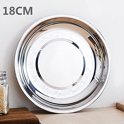 Camping Silver Stainle Steel Tableware Dinner Plate Food Container Outdoors