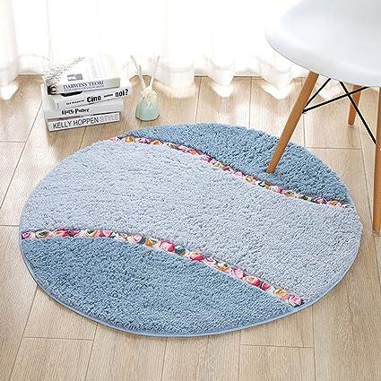 Rug GJM Shop 1.5cm Thickness Round Microfiber Rural Non Slip Carpet  Computer Chair Living