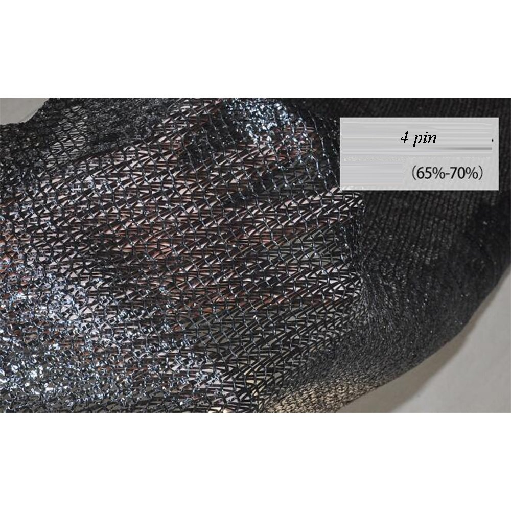 Shade cloth 65%~70% Sunscreen Canopy UV Protector Sun Netting Rectangle 4 Pin (Color : Black, Size : 4x50m)