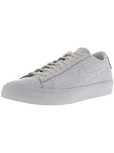 buy popular c9739 109fc NIKE Men s Blazer Studio Low Summit White Ankle-High Leather Fashion  Sneaker - 8.5