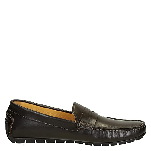 Men's 503VITELLOTMOROFAUSTO Brown Leather Loafers