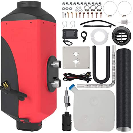 Happybuy 5KW Diesel Air Heater for RV Bus Motorhome Boat Car (Diesel Air  Heater (12V 5KW LCD Thermostat Monitor 44 Pieces Kit))