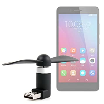 DURAGADGET Mini Ventilador de Bolsillo Alimentado vía USB y Micro ...