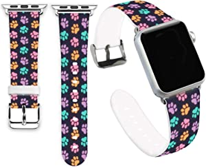 Claw Bands for iWatch 40mm/38mm,Jolook Soft Leather Sport Style Replacement Band Strap for iWatch 40mm 38mm Series 6/5/4/3/2/1 - Dog Claws