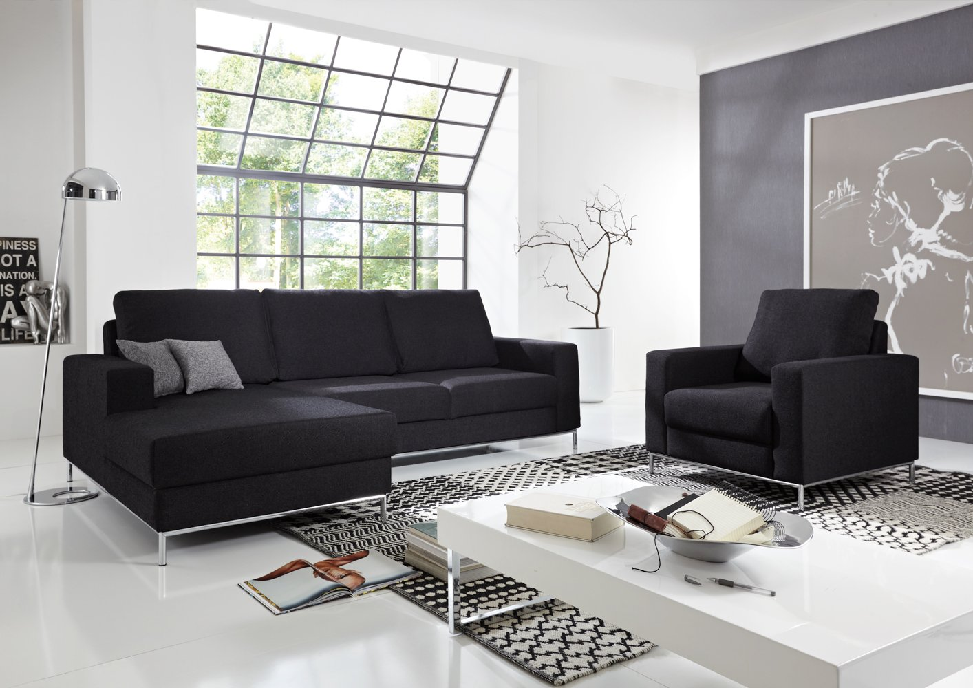 Silverline Sofa – Made in Germany – Freie Farbwahl ohne Aufpreis aus unseren Bezugsstoffen (außer Echtleder)– Nahezu jedes Sondermaß möglich! Sprechen Sie uns an. Info unter 05226-9845045 oder info@highlight-polstermoebel.de
