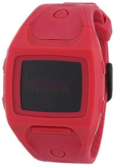 Nixon A498220-00 - Reloj digital de cuarzo para mujer con correa de plástico, color rojo: Amazon.es: Relojes