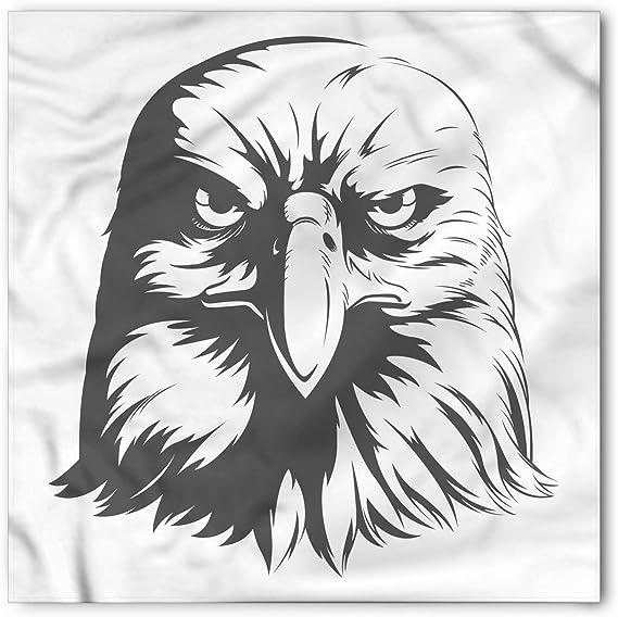Soefipok Bandana facial, Silueta de águila, Cabeza y corbata ...