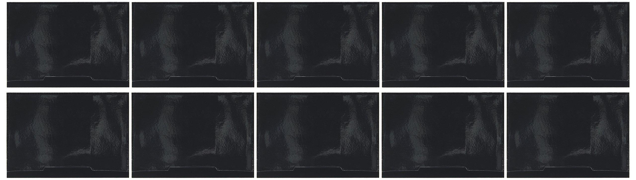 Tatco Magnetic Vinyl Label Holder, 4.4'' x 6.4'', Black, 10 Pack (TCO29400)