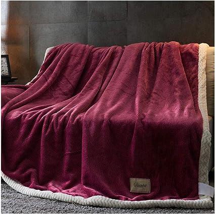 Mantas Deluxe Throw Blanket Color sólido Plaid Flannel Super ...
