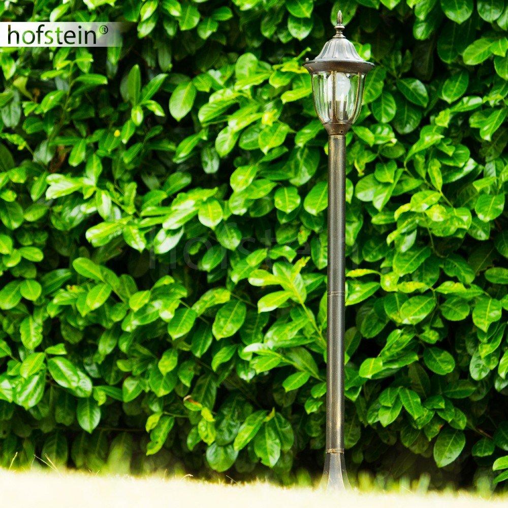 Wandlampe Hof aus Aluguss Aussenleuchte f/ür Terrasse Terrassenlampe Au/ßenwandleuchte Ribadeo mit Bewegungsmelder maximal 60 Watt Eingangsbeleuchtung Vintage in Braun-Gold E27-Fassung