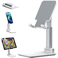Adjustable Cell Phone Stand, Phone Holder for Desk Holder, Desktop Stand Compatible for iPhone Xs Max Xr 8 7 6 6s Plus…