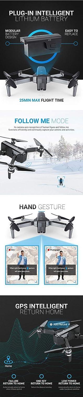 LanLan Drone SJRC F11 GPS 5G WiFi FPV con cámara 1080P 25 min. Tiempo de Vuelo sin escobillas Selfie RC Drone Quadcopter