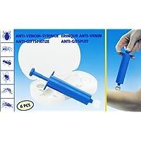 Anik-Shop Anti-Gift-Set 6-TLG. Vakuumpumpe Venom Antigiftspritze Insektenstiche Zeckenentferner Spritze Erste Hilfe Camping 7