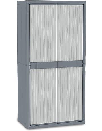 Terry - Armario plástico exterior, 89.7 x 53.7 x 180 cm