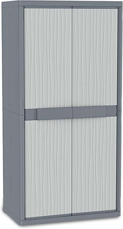 Terry Wave Jumbo 2900 Armario 2 Puertas Especialmente Espacioso con 4 internos. Capacidad máxima del Estante: 25 kg distribuidos de Forma Uniforme, Gris, 89, 7x53, 7x180 cm: Amazon.es: Bricolaje y herramientas