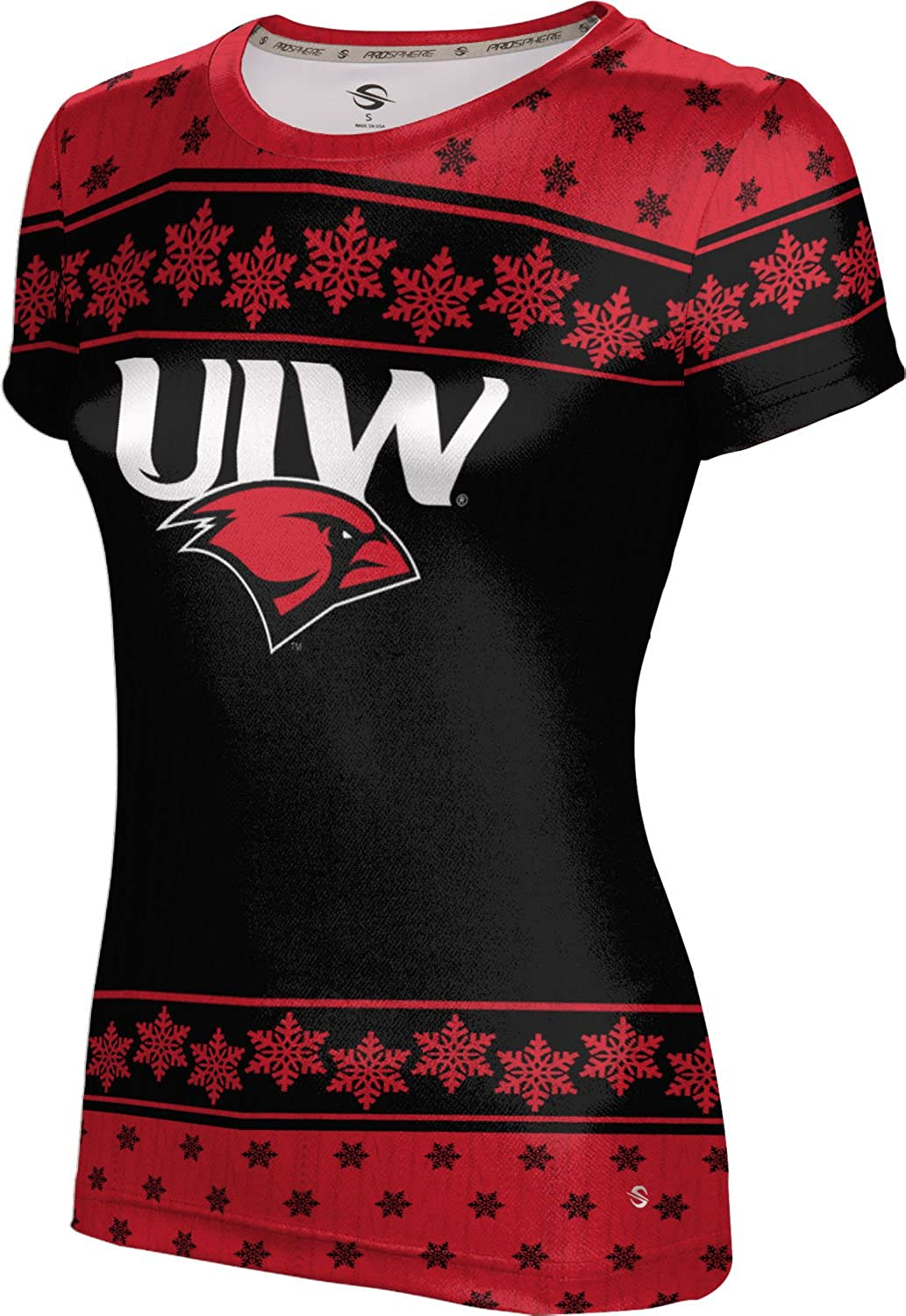 Women's University of the Incarnate Word Ugly Holiday Snowflake Tech Tee