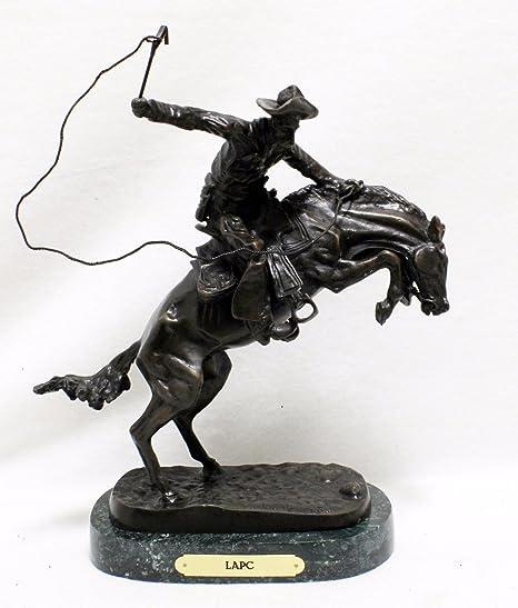 Amazon.com: Frederic Remington Bronco Buster Estatua ...