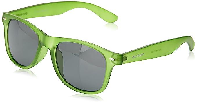 Ocean Sunglasses Beach Wayfarer - Gafas de Sol polarizadas - Montura : Verde Brillante Transparente -