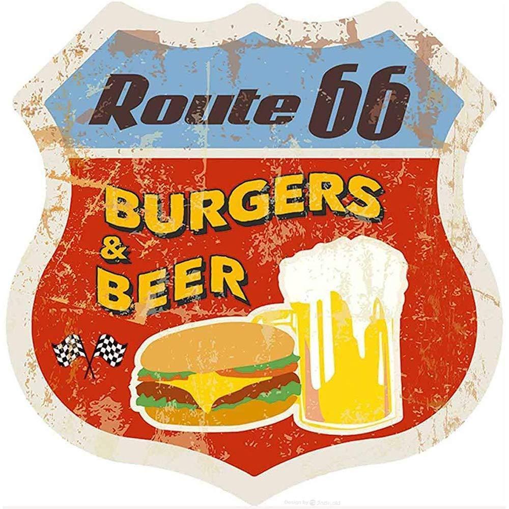 Decorazione da Parete per la casa Bazingaaaaa Us Route 66 Pub Come Immagine 40 cartelli stradali Vintage in Metallo per Garage Metallo Bar 8x12