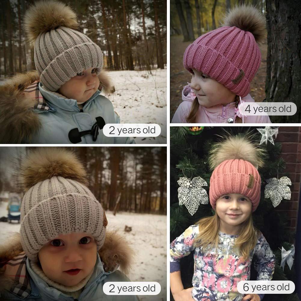 FURTALK Kids Winter Pom Pom Hat - Knitted Beanie Hats for Children Girls Boys Original by FURTALK (Image #5)