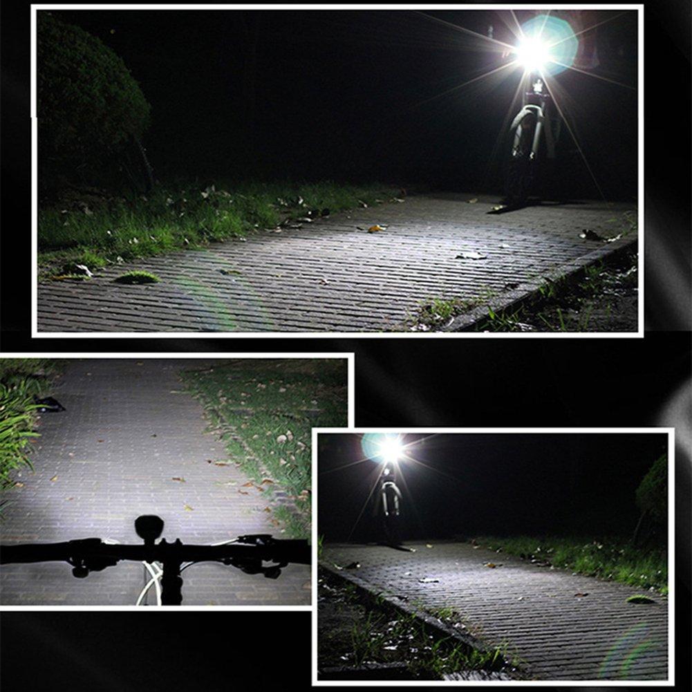 USB Rechargeable LED Phare Lumi/ère de Devant Imperm/éable Lumi/ère de Bicyclette Lampe de Poche 3 Modes de Lumi/ères pour en Marchant Urgence S/écurit/é /à V/élo WOTUMEO Eclairage Avant V/élo