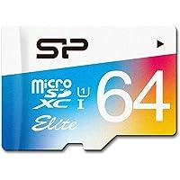 Silicon Power Tarjeta MicroSDXC UHS-1 clase 10 de 64 GB con velocidad de hasta 85MB/s