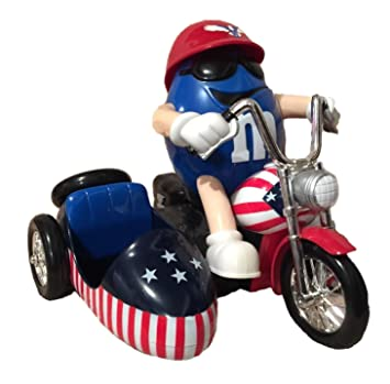 M&Ms World Motorcycle with Side Car - Freedom Rider - Red, White & Blue Chocolate