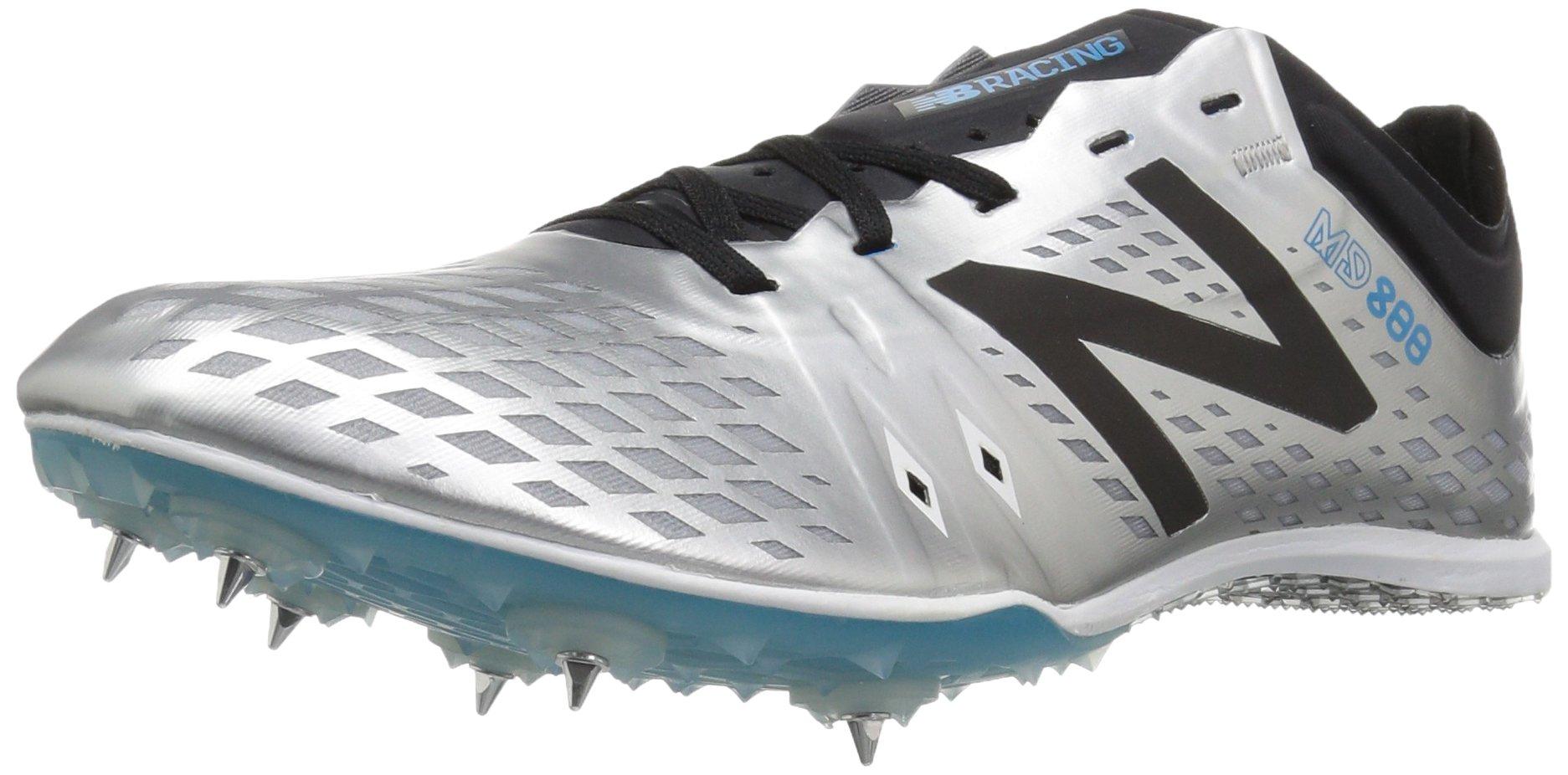 New Balance Men's MD800v5 Track Shoe, Silver/Black, 11 D US