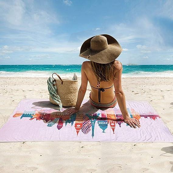 WLZP 【2020NEW】 Microfaser Strandtuch,Leicht und Kompakt Stranddecke-150x75cm,Schnelltrocknend,Saugstark,Weich.Das Beste Pool Handtuch Badetuch auf Schwimmen,Sport,Geschenke wasserdichte H/ülle
