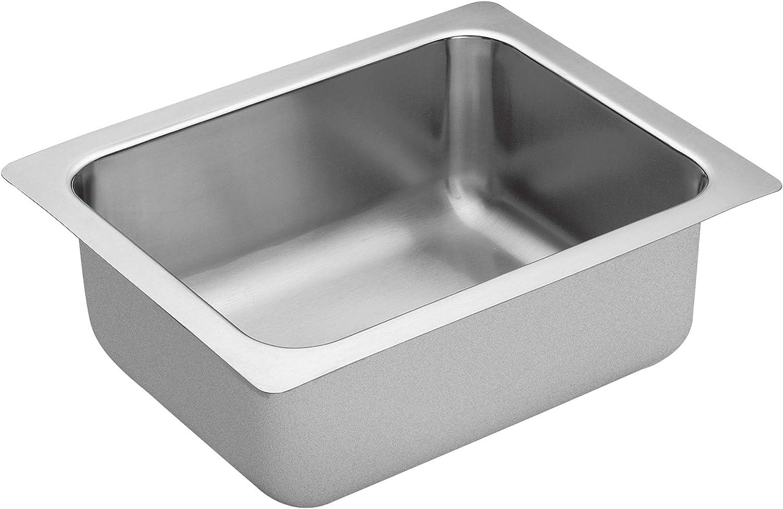 Moen G18440 1800 Series Single Bowl Undermount Sink, 18-Gauge, Stainless Steel