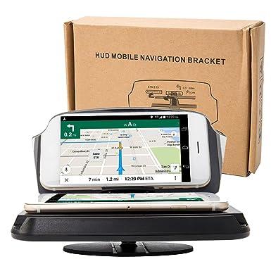 Enjoygoeu Universal Soporte de Coche HUD Head-Up Pantalla Teléfono Soporte de Navegación GPS Imagen