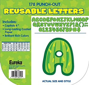 Eureka Cactus Themed Punch Out Letters for Classroom Decoration, 178pc, 4'' H