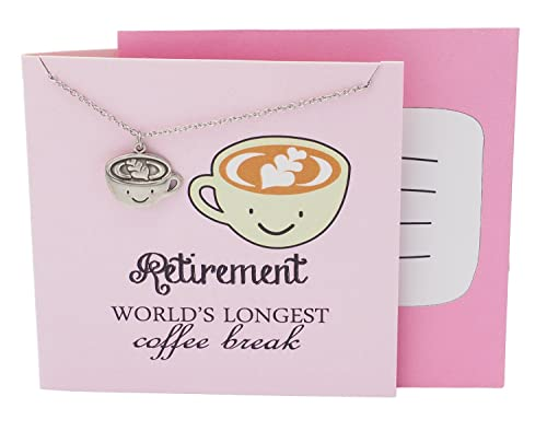 Quan Jewelry Coffee Cup Gifts Necklace For Lovers And Enthusiasts Funny Mug Perfect Birthday
