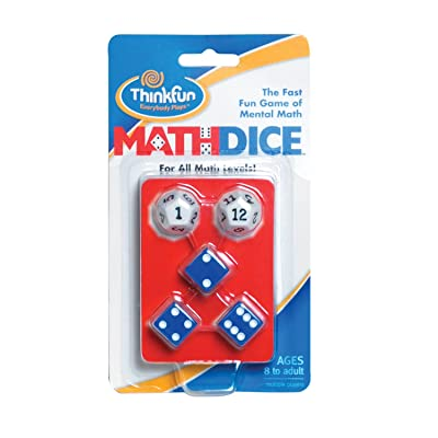 ThinkFun Math Dice Fun Game that Teaches Mental Math Skills to Kids Age 8 and Up: Game: Toys & Games