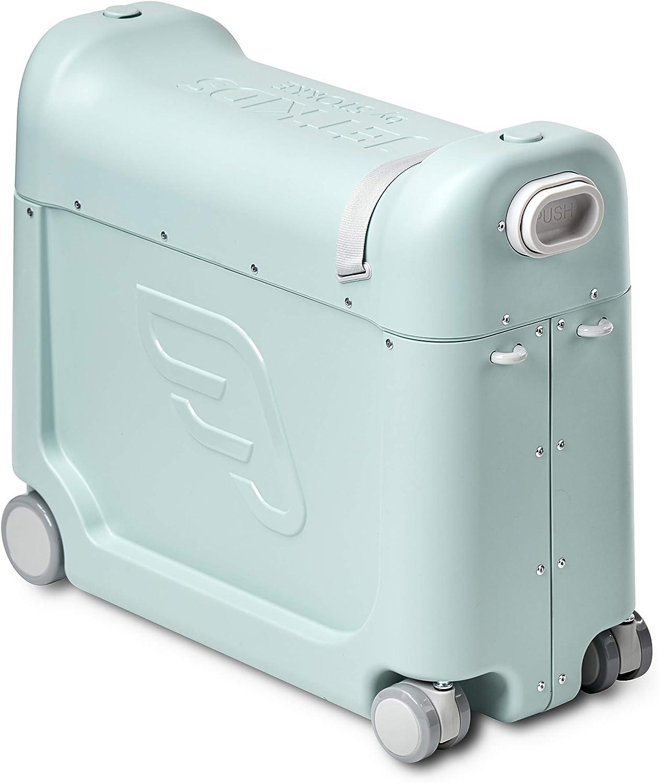 JetKids™ BedBox de STOKKE® - Maleta infantil de cabina con cama de viaje│Trolley con asiento de 4 ruedas para niños│Colour: Green Aurora