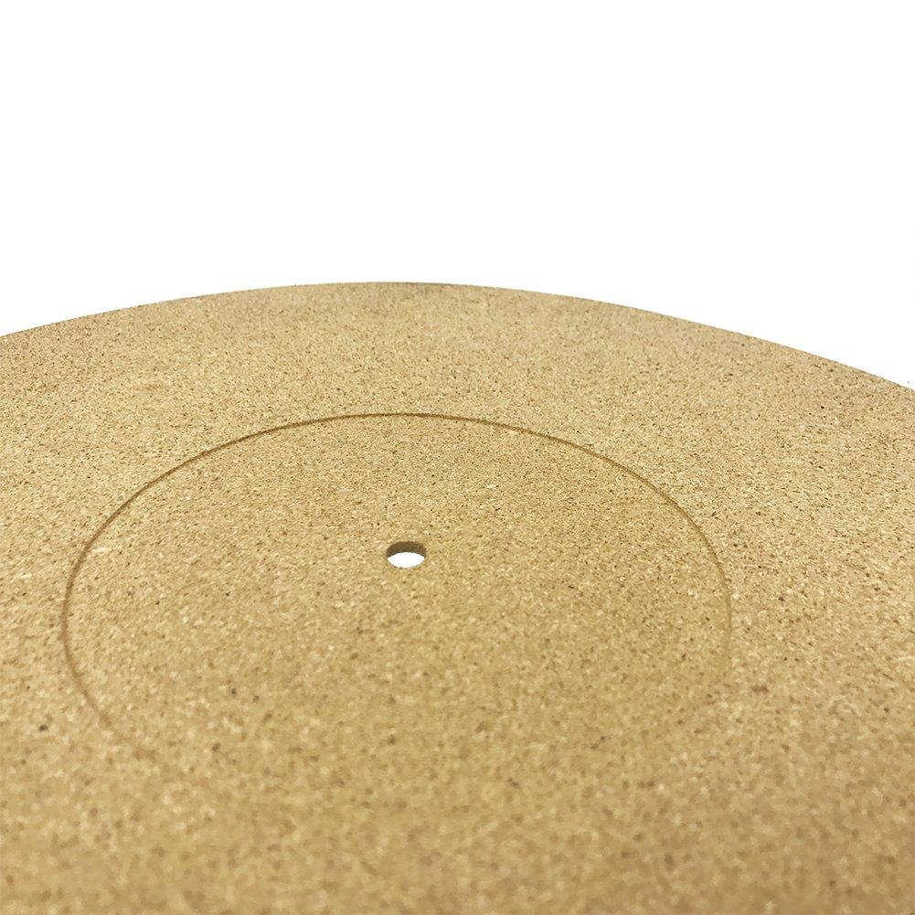 3mm Anti-Static Turntable Cork Slipmat Record Master