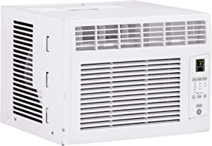GE 6,000 BTU Electronic Window Air Conditioner, Cools up to 250 sq. Ft, Easy Install Kit & Remote Included, 6000 115V, White