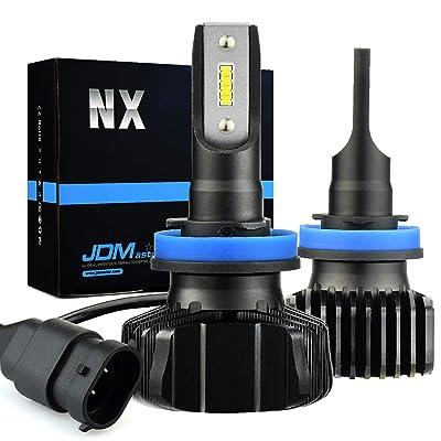 JDM ASTAR NX Fanless Design H11 H8 H16 Up to 60% More Downroad Visibility White LED Headlight Bulbs/Fog Light Bulbs: Automotive