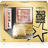 L'Oréal Paris Cofanetto Idea Regalo Natale, Mascara Paradise e Palette 16 Ombretti Caldi Cherry My Cheri, Pochette 2 Pezzi Star Light in Paris