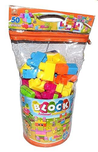 Jack Royal 50 pcs,Multi Color Big Size Building Blocks- Mind Development Activity for The Little Ones