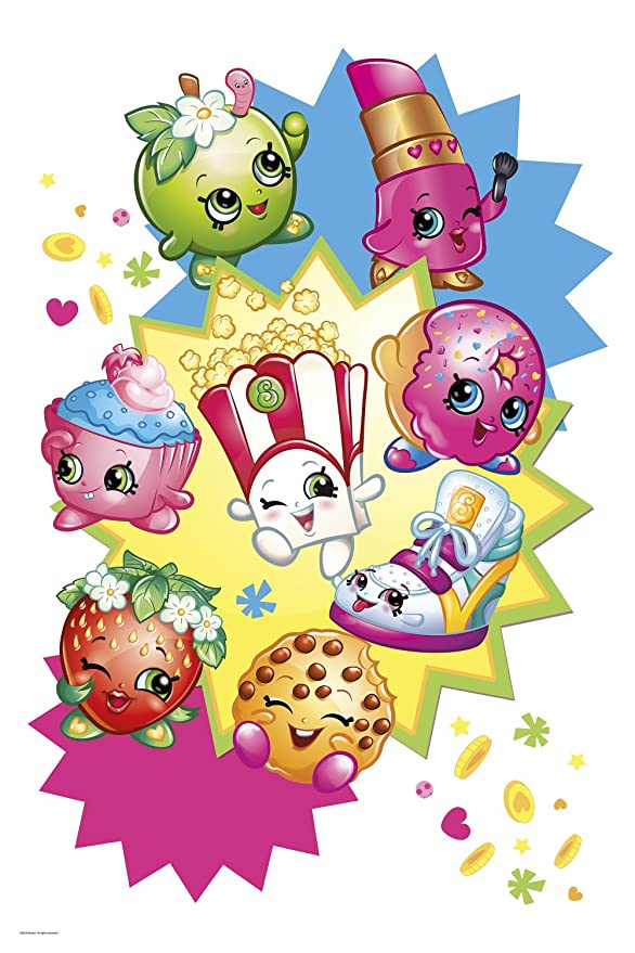 RoomMates RMK3156TB Shopkins Burst Peel and Stick Giant Wall Decals ...