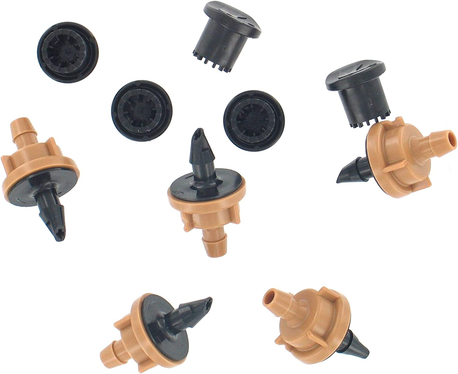 Discount 25 Pieces Assorted Drippers for Drip Irrigation  1//2 GPH 2 GPH Qty